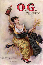 Advertising Poster. O.G.Whisky. Scotland's Pride. H.Cruttenden, Uckfield.