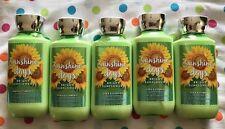LOT of 5 Bath & Body Works SUNSHINE DAYS Body Lotion BRIGHT SUNFLOWERS