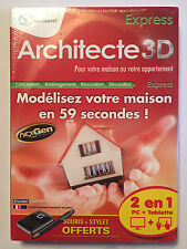 LOGICIEL PC neuf °°ARCHITECTE 3D EXPRESS°° Windows XP / Vista / 7 / 8
