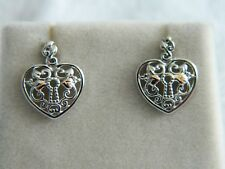 Clogau Sterling Silver & 9ct Rose Welsh Gold Kensington Heart Stud Earrings