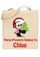 Bolsa De Navidad Para Niños Personalizado * (presenta pertenecen a) Pingüino ref 2