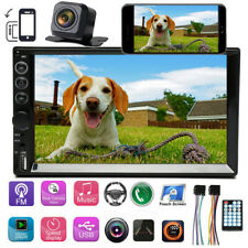 """7"""" Bluetooth Car Stereo Radio 2DIN HD MP5 Touch IOS/Android Mirror Link + Camera"""