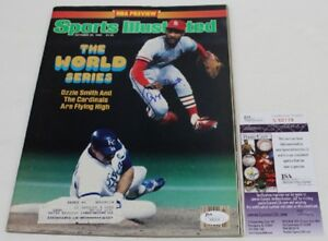 Ozzie Smith Signed 1985 Sports Illustrated Autographed Cardinals JSA V80119