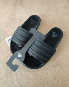 Adidas Adilette Boost Slides - UK Size 6 Triple Black Unisex