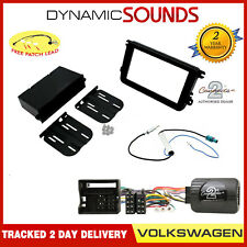 Single/Double Din Black Fascia & Stalk Fitting Kit for VW Caddy 2004 Onwards