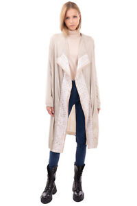 RRP €520 PIAZZA SEMPIONE Silk & Wool Shrug Size 44 / M Waterfall Made in Italy