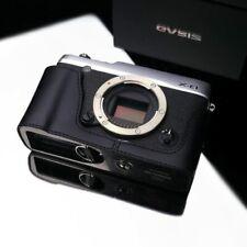 Gariz Genuine Leather XS-CHXE1BK Metal Half Case for Fujifilm XE1 X-E1, BLACK