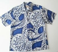 New Vintage Blue Hawaii - Mens Size L Hawaiian Short Sleeve Cotton Shirt