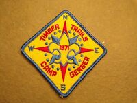 Boy Scout Camp Gerber Patch Patch Vintage BSA West Michigan Timber Trails 1971