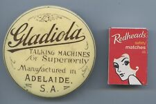 """1920'S """"GLADIOLA"""" GRAMOPHONE TALKING MACHINE RECORD CLEANER MADE ADELAIDE S.AUST"""
