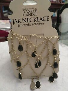 Yankee Candle BLACK GEMS Candle NECKLACE CANDLE JEWELRY NEW