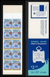 Marshall Islands Scott #42a MNH BOOKLET of 10x22c Map of Eniwetok CV$9+ ISH-1