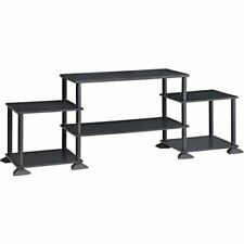 TV Stand Entertainment Center Media Console Wood Storage No Tools Assembly Unit
