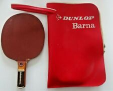 RARE Vintage Dunlop Barna Table Tennis Bat Paddle with Case FREE POSTAGE