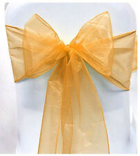 WEDDING ORGANZA CHAIR COVER BOW SASH WIDER SASHES FOR FULLER ROW + MANY COLOUR