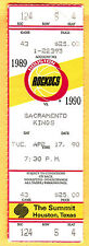 4/17/90 HOUSTON ROCKETS/SACRAMENTO KINGS BASKETBALL FULL TICKET