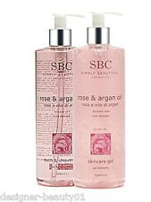 SBC - New Rose and Argan Oil Skincare Gel & New Bath and Shower Gel 500ml