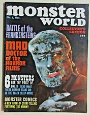 WARREN PUBLICATIONS - MONSTERS WORLD MAGAZINE - ISSUE #1 - 1964 - NICE COPY