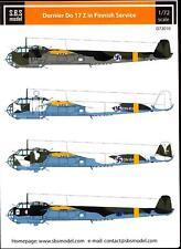 SBS Models Decals 1/72 DORNIER Do-17Z FINNISH AIR FORCE