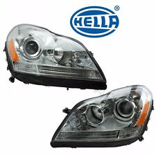 Mercedes X164 GL-Class Pair Set of Left and Right Halogen Headlight Assies Hella