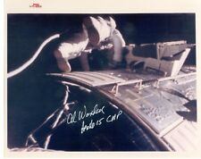 "Nasa Astronaut Al Worden hand signed 8""x10"" Eva Photo"