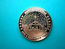 NEW MERRY CHRISTMAS AND HAPPY NEW YEAR (#2) 1OZ COPPER ROUND