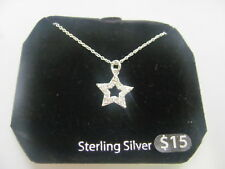 5521 OLD PAWN  Sterling Silver star  Necklace Earrings Set