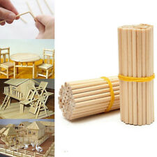 100pcs 80mm Round Wooden Lollipop Ice Lolly Cake Dowels for DIY Food Crafts
