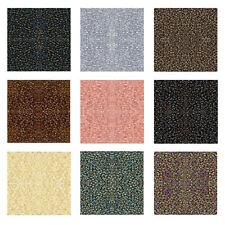 Miyuki Japanese Seed Beads Round Rocailles Ceylon, Metallic, Luster, Iris Colors