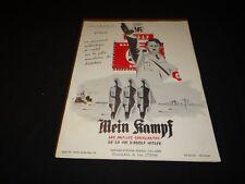 MEIN KAMPF Adolf Hitler scenario dossier presse cinema 1959