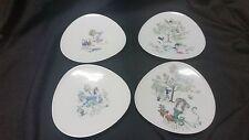 ROSENTHAL signed BELE BACHEM  Triangular Salad Plate set of 4