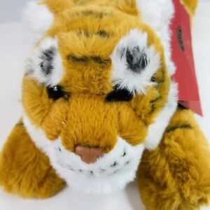 "FAO Schwartz Adopt A Pet Tiger With Tags And Adoption Certificate 17"" Super Soft"