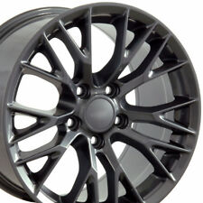 17x9.5 18x10.5 Gunmetal Gray C7 Z06 Style Wheels Fits Chevrolet Rims Staggered