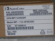 AudioCodes MP114/4S/SIP
