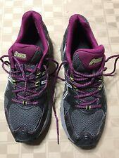 EUC ASICS T4G5N 9793 GEL-Kahana 7 Titanium Plum/Grey Women's Trail Shoes Size 11