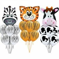 Animal Safari Foil Latex Balloons Jungle Happy Birthday Party Decorations 7Pcs