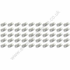 50 x White 5v 10mm T10 Wedge Base LED Bulbs for Arcade Push Buttons - MAME