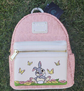 LOUNGEFLY GROTTO TREASURE THUMPER PINK SEQUIN MINI BACKPACK SOLD OUT LE/1000