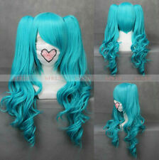 Anime VOCALOID-hatsune miku Blue Cosplay Costume Party Wig + Free Cap + Track