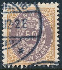 Denmark Scott 51b/AFA 30C, 50ø brown/violet Bicolour, wmk Crown III, F used