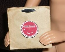 Replacement Barbie Loves Frank Sinatra 78 RPM Record and Brown/Tan Sleeve Cover