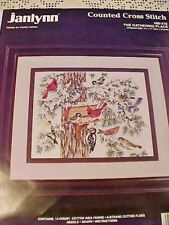 Counted Cross Stitch Kit Janlynn The Gathering Place 80-216 Cardinals Woodpecker