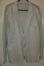 Unbranded Linen Button Coats & Jackets for Men