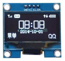 "1.3"" White OLED LCD Display Module IIC I2C Interface 128x64 3-5V For Arduino CA"