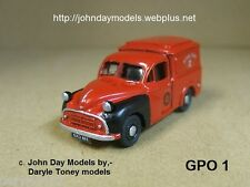 00/4MM  JOHN DAY WHITE METAL KIT **NEW** MORRIS MINOR MM ROYAL MAIL  VAN 1953-on