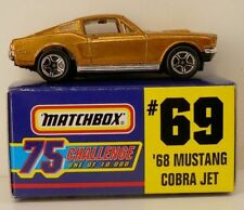 Matchbox #69 Gold Challenge 75 1968 Ford Mustang Cobra Jet '68 CJ