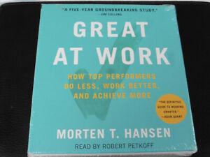 MORTEN T. HANSEN - GREAT AT WORK - 7CD AUDIOBOOK - 2018 CD - NEW / SEALED