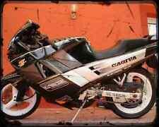 Cagiva Freccia 125 C12R A4 Metal Sign Motorbike Vintage Aged