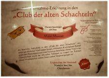 Willkommen im CLUB DER ALTEN SCHACHTELN ... Alter Sack Urkunde Geburtstag D2