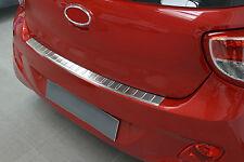 Ladekantenschutz für Hyundai I10 PA 2013-2016 mit Abkantung Edelstahl